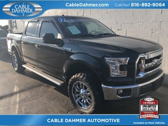 2017 Shadow Black Ford F-150 XLT 4X4 5.0L V8 FFV Engine Truck