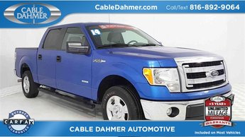 2014 Blue Ford F-150 XLT EcoBoost 3.5L V6 GTDi DOHC 24V Twin Turbocharged Engine 4 Door RWD Truck