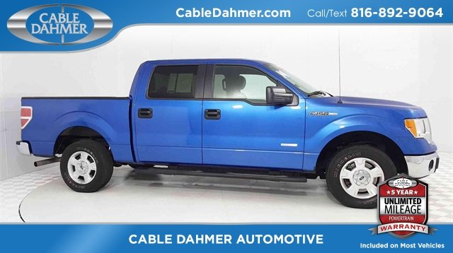 2014 Blue Ford F-150 XLT 4 Door RWD Automatic
