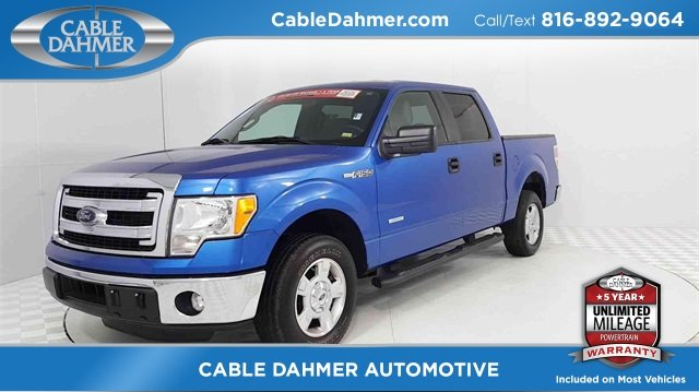 2014 Blue Ford F-150 XLT Automatic 4 Door Truck EcoBoost 3.5L V6 GTDi DOHC 24V Twin Turbocharged Engine