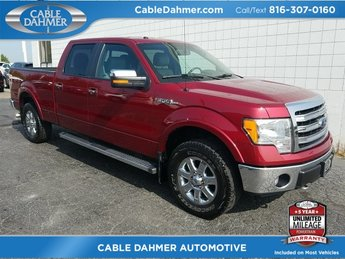 2013 Red Ford F-150 Lariat Truck Automatic 4X4 5.0L V8 FFV Engine