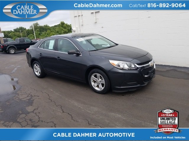 2015 Ashen Gray Metallic Chevy Malibu LS Sedan Automatic FWD ECOTEC 2.5L I4 DGI DOHC VVT Engine 4 Door