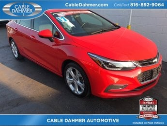 2017 Red Chevrolet Cruze Premier FWD 1.4L 4-Cylinder Turbo DOHC CVVT Engine Sedan 4 Door Automatic