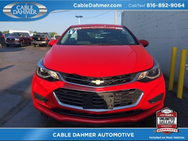2017 Red Chevy Cruze Premier Sedan Automatic 4 Door FWD 1.4L 4-Cylinder Turbo DOHC CVVT Engine