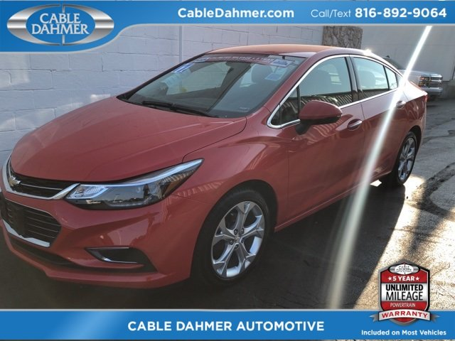 2017 Red Chevy Cruze Premier FWD 1.4L 4-Cylinder Turbo DOHC CVVT Engine 4 Door Automatic