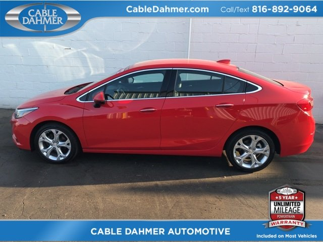 2017 Chevy Cruze Premier Sedan Automatic 1.4L 4-Cylinder Turbo DOHC CVVT Engine FWD 4 Door