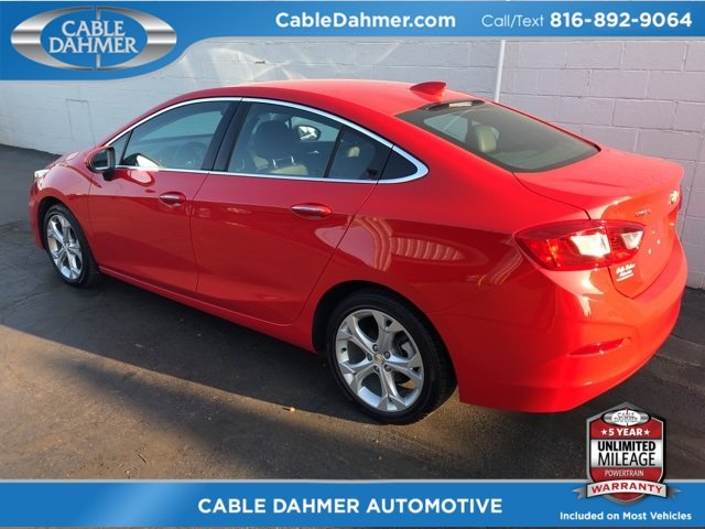 2017 Red Chevy Cruze Premier 1.4L 4-Cylinder Turbo DOHC CVVT Engine Sedan 4 Door FWD Automatic