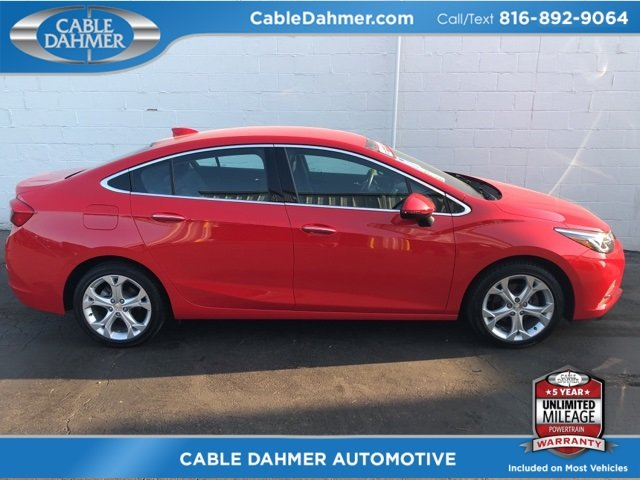 2017 Red Chevy Cruze Premier FWD 4 Door Automatic 1.4L 4-Cylinder Turbo DOHC CVVT Engine