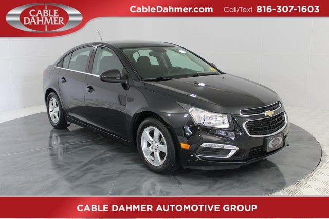 2016 Black Granite Metallic Chevy Cruze Limited LT 4 Door Sedan ECOTEC 1.4L I4 SMPI DOHC Turbocharged VVT Engine FWD Automatic
