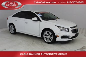 2016 Summit White Chevrolet Cruze Limited LTZ 4 Door Automatic Sedan ECOTEC 1.4L I4 SMPI DOHC Turbocharged VVT Engine FWD