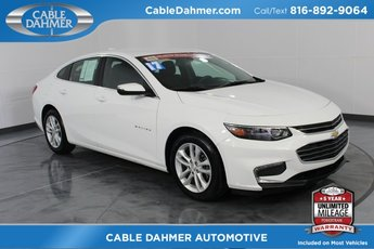 2017 Summit White Chevy Malibu LT 1.5L DOHC Engine 4 Door Sedan Automatic