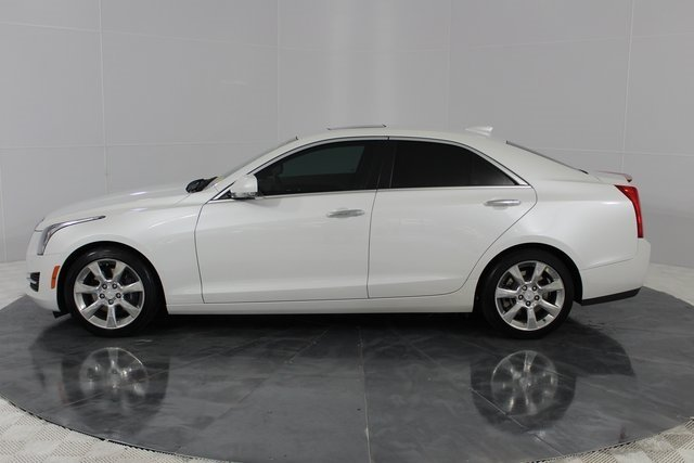 2015 Crystal White Tricoat Cadillac ATS Luxury RWD 2.5L I4 DI DOHC VVT Engine 4 Door RWD Sedan
