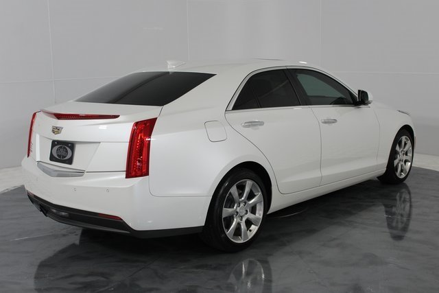 2015 Crystal White Tricoat Cadillac ATS Luxury RWD 4 Door 2.5L I4 DI DOHC VVT Engine Sedan