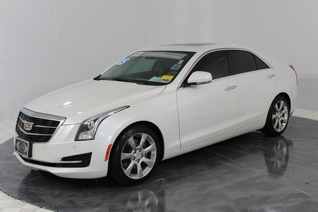 2015 Crystal White Tricoat Cadillac ATS Luxury RWD Sedan Automatic 2.5L I4 DI DOHC VVT Engine 4 Door RWD