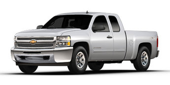 2013 Silver Ice Metallic Chevy Silverado 1500 LT 4X4 Truck Vortec 5.3L V8 SFI VVT Flex Fuel Engine 2 Door Automatic