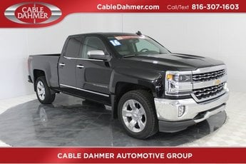 2016 Black Chevy Silverado 1500 LTZ Automatic 4X4 EcoTec3 5.3L V8 Engine 4 Door