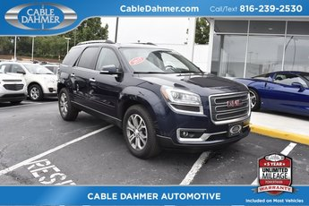 2015 Dark Sapphire Blue Metallic GMC Acadia SLT 4 Door AWD Automatic