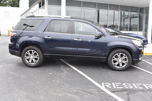 2015 Dark Sapphire Blue Metallic GMC Acadia SLT AWD 3.6L V6 SIDI Engine Automatic 4 Door SUV