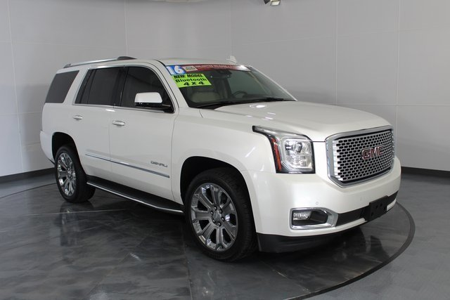 2016 White GMC Yukon Denali EcoTec3 6.2L V8 Engine Automatic 4 Door