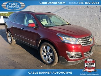 2015 red Chevy Traverse LTZ 3.6L V6 SIDI Engine 4 Door AWD