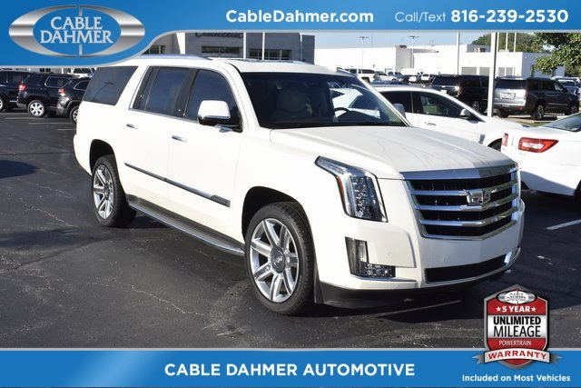 2015 White Diamond Tricoat Cadillac Escalade ESV Luxury 4X4 Vortec 6.2L V8 SIDI Engine SUV