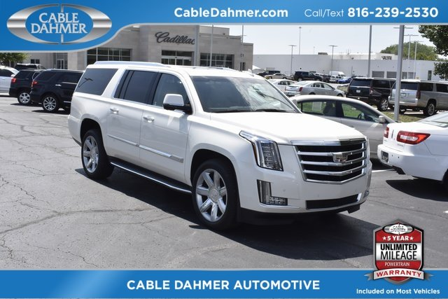2015 White Cadillac Escalade ESV Luxury Automatic 4X4 Vortec 6.2L V8 SIDI Engine 4 Door SUV
