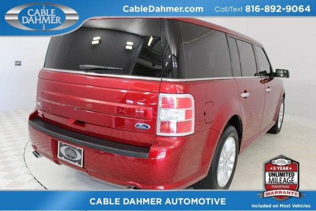 2015 Ruby Red Metallic Tinted Clearcoat Ford Flex SEL 3.5L V6 Ti-VCT Engine SUV Automatic 4 Door