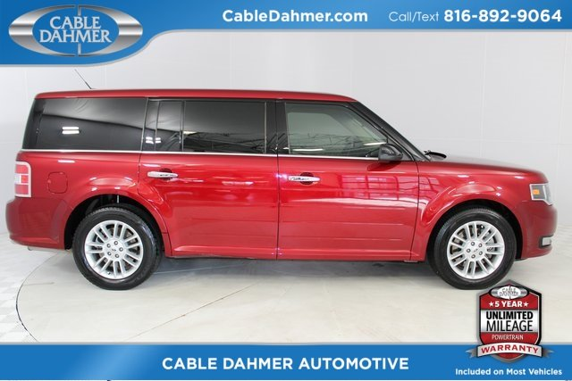2015 Ruby Red Metallic Tinted Clearcoat Ford Flex SEL 4 Door Automatic FWD