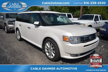 2010 White Ford Flex SEL w/Ecoboost Automatic EcoBoost 3.5L V6 GTDi DOHC 24V Twin Turbocharged Engine 4 Door SUV