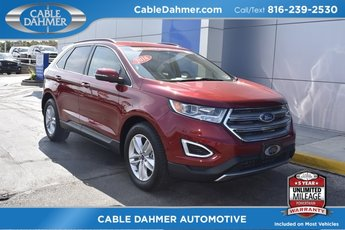 2016 Red Ford Edge SEL EcoBoost 2.0L I4 GTDi DOHC Turbocharged VCT Engine Automatic 4 Door