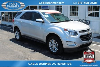 2017 Silver Ice Metallic Chevrolet Equinox LT 4 Door Automatic SUV FWD