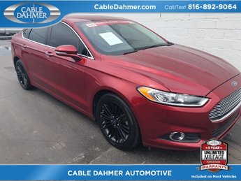 2015 red Ford Fusion SE 4 Door EcoBoost 1.5L I4 GTDi DOHC Turbocharged VCT Engine FWD Sedan