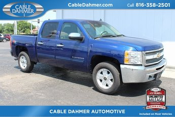 2013 Blue Topaz Metallic Chevrolet Silverado 1500 LT Truck 4X4 4 Door Automatic Vortec 5.3L V8 SFI VVT Flex Fuel Engine