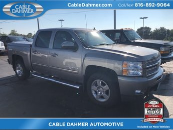 2012 gray Chevy Silverado 1500 LTZ 4X4 4 Door Automatic Vortec 5.3L V8 SFI VVT Flex Fuel Engine