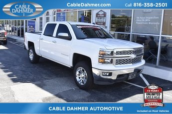 2014 White Chevy Silverado 1500 LT 4 Door Truck EcoTec3 5.3L V8 Flex Fuel Engine Automatic 4X4