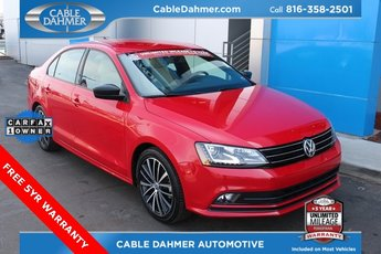 2016 Tornado Red Volkswagen Jetta 1.8T Sport Sedan Automatic 4 Door 1.8L I4 Turbocharged Engine FWD