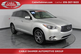 2014 Glacial Silver Infiniti QX60 Base AWD SUV 4 Door Automatic (CVT) 3.5L V6 Engine
