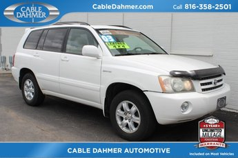 2003 Super White Toyota Highlander V6 4 Door SUV 3.0L V6 SMPI DOHC Engine Automatic 4X4