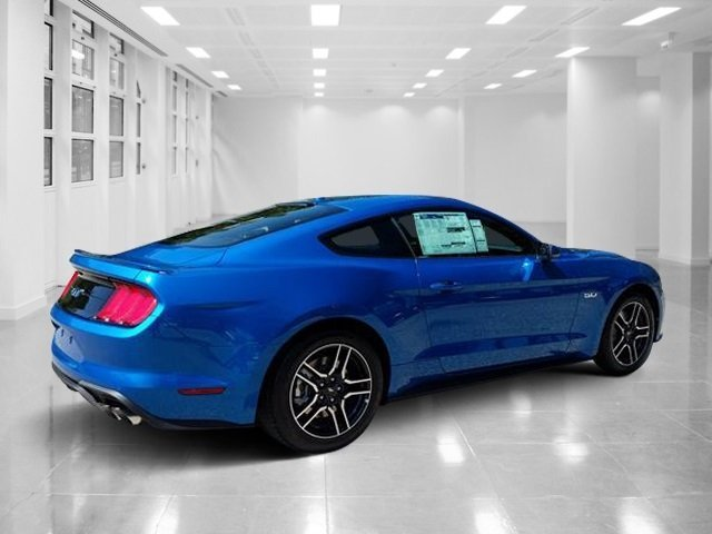 2019 Velocity Blue Metallic Ford Mustang GT Premium Automatic 2 Door Premium Unleaded V-8 5.0 L/302 Engine Coupe