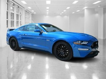 2019 Velocity Blue Metallic Ford Mustang GT Premium Unleaded V-8 5.0 L/302 Engine 2 Door Manual Coupe