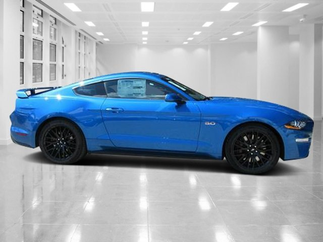 2019 Velocity Blue Metallic Ford Mustang GT Premium Unleaded V-8 5.0 L/302 Engine Coupe 2 Door RWD Manual