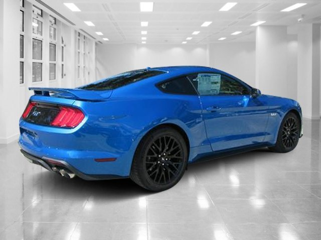 2019 Velocity Blue Metallic Ford Mustang GT Premium Unleaded V-8 5.0 L/302 Engine Coupe RWD Manual 2 Door