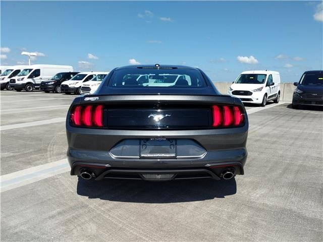 2019 Magnetic Metallic Ford Mustang EcoBoost RWD Intercooled Turbo Premium Unleaded I-4 2.3 L/140 Engine Coupe