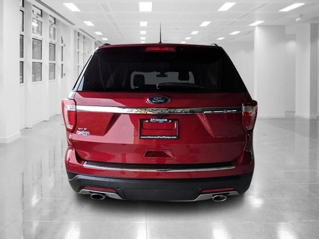 2018 Ruby Red Metallic Tinted Clearcoat Ford Explorer XLT SUV Automatic FWD
