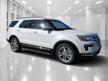 2018 White Platinum Metallic Tri-Coat Ford Explorer Limited FWD SUV Automatic