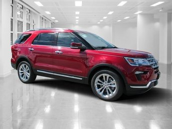 2018 Ruby Red Metallic Tinted Clearcoat Ford Explorer Limited Intercooled Turbo Premium Unleaded I-4 2.3 L/140 Engine 4 Door SUV FWD Automatic