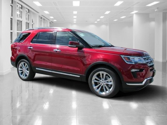 2018 Ruby Red Metallic Tinted Clearcoat Ford Explorer Limited 4 Door Intercooled Turbo Premium Unleaded I-4 2.3 L/140 Engine FWD SUV Automatic