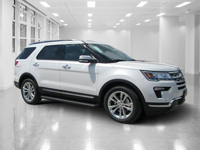 2018 White Platinum Metallic Tri-Coat Ford Explorer Limited Automatic FWD 4 Door SUV