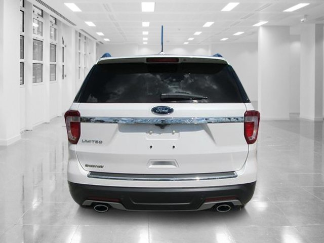 2018 White Platinum Metallic Tri-Coat Ford Explorer Limited SUV FWD 4 Door Automatic