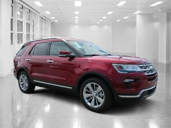 2018 Ruby Red Metallic Tinted Clearcoat Ford Explorer Limited FWD SUV Intercooled Turbo Premium Unleaded I-4 2.3 L/140 Engine Automatic